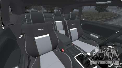 Dodge Challenger SRT8 2009 [EPM] для GTA 4 вид изнутри