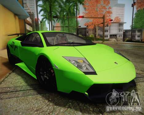 Lamborghini Murcielago LP 670/4 SV Fixed Version для GTA San Andreas