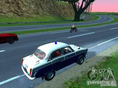 Москвич 403 С Милиция для GTA San Andreas вид сзади слева