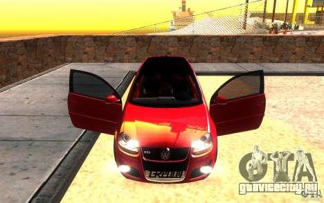 VolksWagen Golf GTI MK5 для GTA San Andreas вид сверху