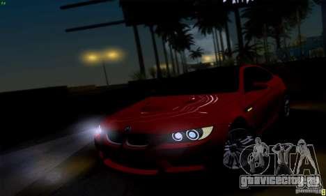 BMW M3 E92 v1.0 для GTA San Andreas вид справа