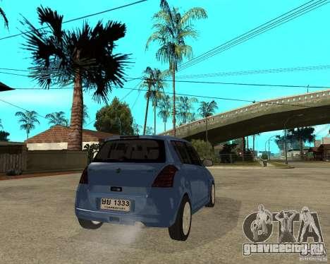 2007 Suzuki Swift для GTA San Andreas вид сзади слева