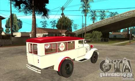 ГАЗ АА Скорая помощь для GTA San Andreas вид справа