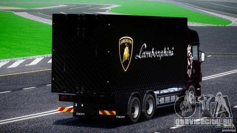 Scania R580 Tandem для GTA 4 вид изнутри