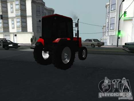 Трактор МТЗ 1025 для GTA San Andreas вид сзади слева