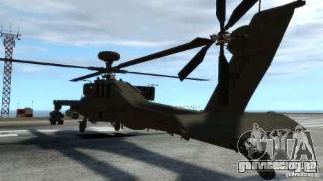 AH-64D Longbow Apache v1.0 для GTA 4 вид изнутри