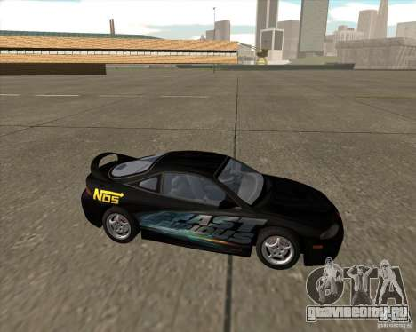 Mitsubishi Eclipse GST из NFS Carbon для GTA San Andreas вид сзади слева
