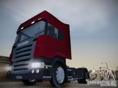 Scania R580 Topline для GTA San Andreas вид сзади