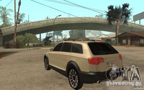 Audi Allroad Quattro для GTA San Andreas вид сзади слева
