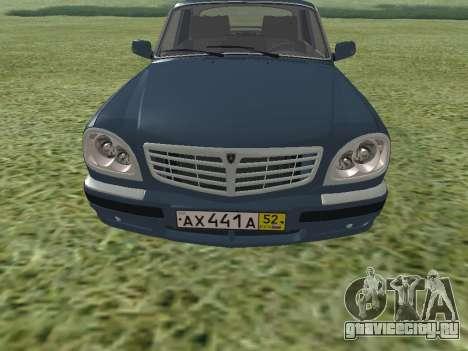 ГАЗ 31105 Волга для GTA San Andreas вид слева