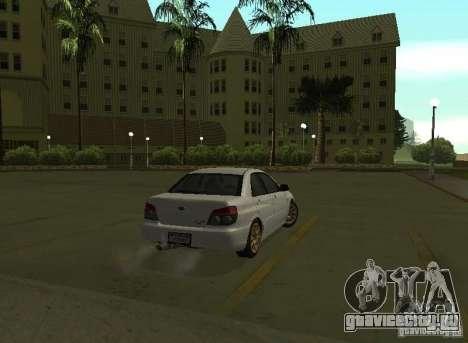 Subaru Impreza WRX STI-Street Racing для GTA San Andreas вид справа
