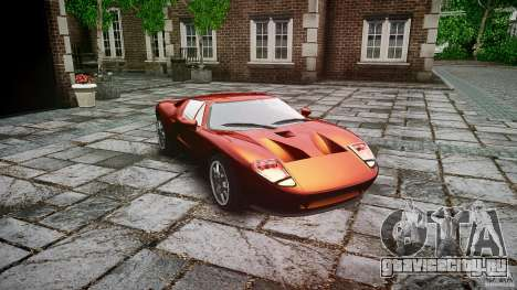 Ford GT для GTA 4 вид сзади