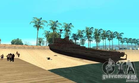 Катер для GTA San Andreas вид сзади слева