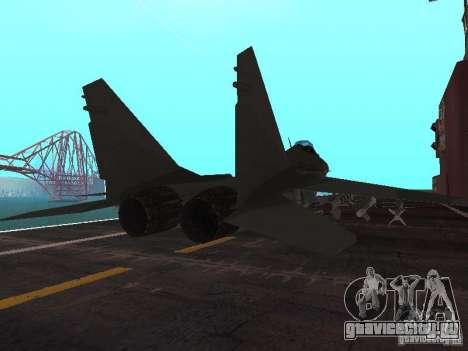 МИГ-29 из COD MW2 для GTA San Andreas вид сзади слева
