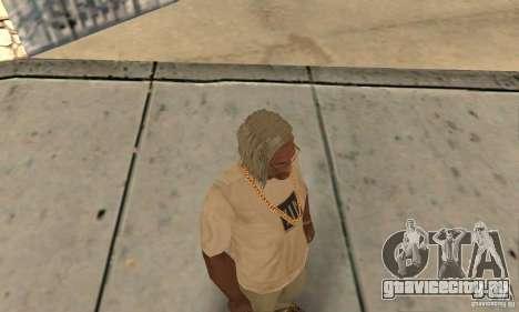 Длинные светлые волосы для GTA San Andreas третий скриншот