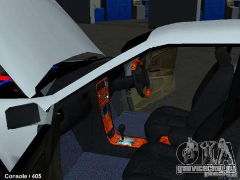 Toyota Mark II 100 1JZ-GTE для GTA San Andreas вид изнутри