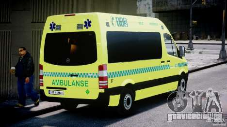 Mercedes-Benz Sprinter PK731 Ambulance [ELS] для GTA 4 вид сбоку