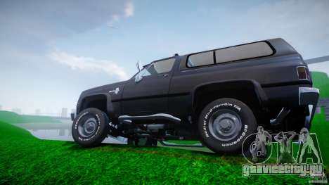 Chevrolet Blazer K5 Stock для GTA 4 колёса