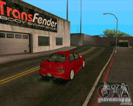 Mitsubishi Lancer Evolution 8 MostWanted для GTA San Andreas вид сзади слева