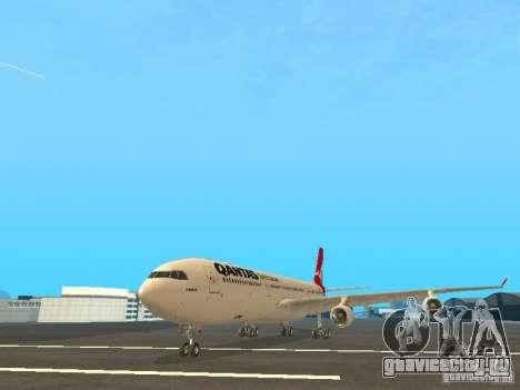 Airbus A340-300 Qantas Airlines для GTA San Andreas вид слева