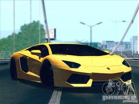 Lamborghini Aventador LP700-4 2011 V1.0 для GTA San Andreas вид сзади слева