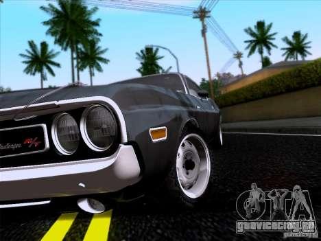 Dodge Challenger HEMI для GTA San Andreas вид справа