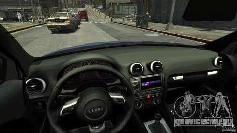 Audi S3 2006 v1.1 тонированая для GTA 4 вид изнутри