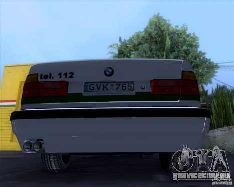 BMW E34 Policija для GTA San Andreas вид сзади