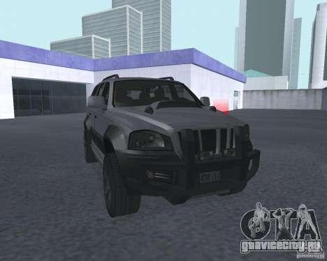 Внедорожник из NFS для GTA San Andreas вид сзади