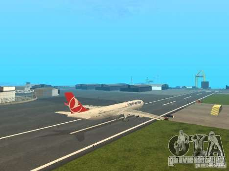 Airbus A330-300 Turkish Airlines для GTA San Andreas вид справа
