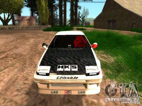 Toyota AE86 Coupe для GTA San Andreas вид сзади слева