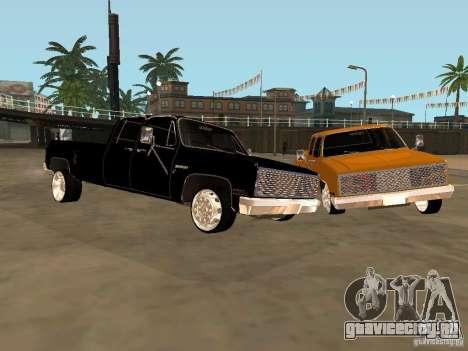 Chevrolet Silverado Lowrider для GTA San Andreas вид слева
