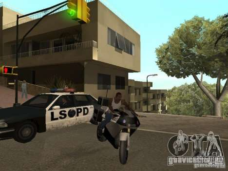 NRG-500 Police для GTA San Andreas вид сзади слева