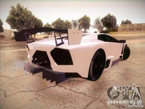 Lamborghini Reventon GT-R для GTA San Andreas вид сзади слева