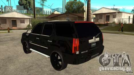 Cadillac Escalade Unique Autosport для GTA San Andreas вид сзади слева