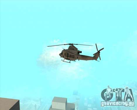 UH-1 Iroquois для GTA San Andreas вид справа