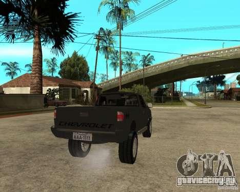 Chevrolet S-10 для GTA San Andreas вид сзади слева