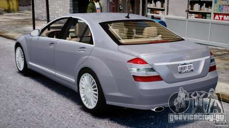 Mercedes-Benz S-Class 2007 для GTA 4 вид сверху