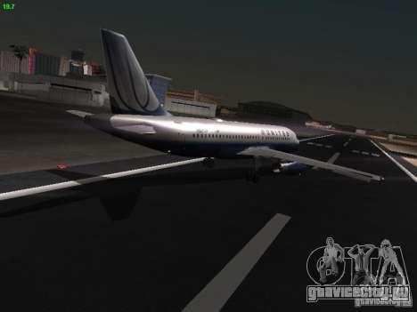 Airbus A319 United Airlines для GTA San Andreas вид справа