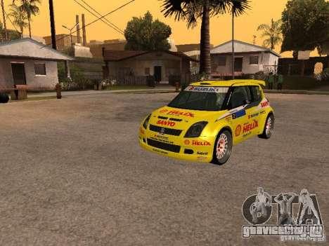 Suzuki Swift Rally для GTA San Andreas вид сзади