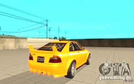 Sultan RS из GTA 4 для GTA San Andreas вид сзади слева