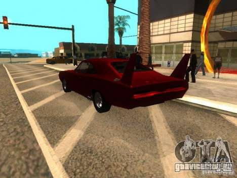 Dodge Charger Daytona Fast & Furious 6 для GTA San Andreas вид сзади