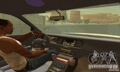 Ford Crown Victoria Utah Police для GTA San Andreas вид сзади слева