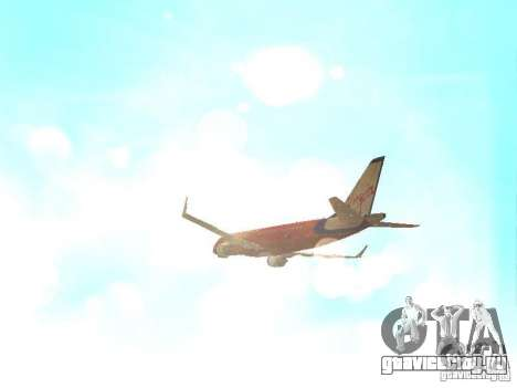 Embraer ERJ 190 Virgin Blue для GTA San Andreas вид сбоку