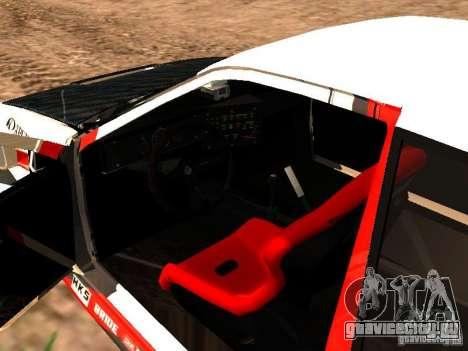 Toyota AE86 Coupe для GTA San Andreas вид изнутри