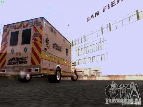 Ford F-350 Ambulance для GTA San Andreas вид сзади слева