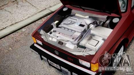 Volkswagen Rabbit 1986 для GTA 4 вид изнутри