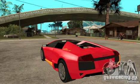 Lamborghini Murcielago LP650 для GTA San Andreas вид сзади слева