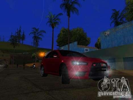 Mitsubishi Lancer Evo X для GTA San Andreas вид слева