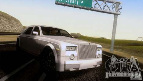 Rolls Royce Phantom Hamann для GTA San Andreas вид сзади слева